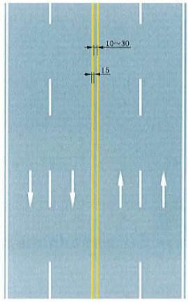 双黄实线禁止跨越对向车行道分界线