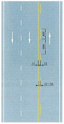 黄色虚实线禁止跨越对向车行道分界线