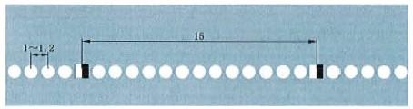 突起路标组成的单实线示例